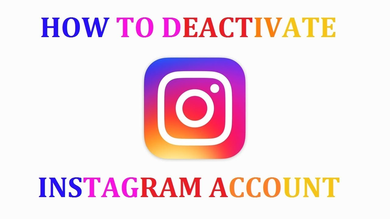 How to deactivate your instagram